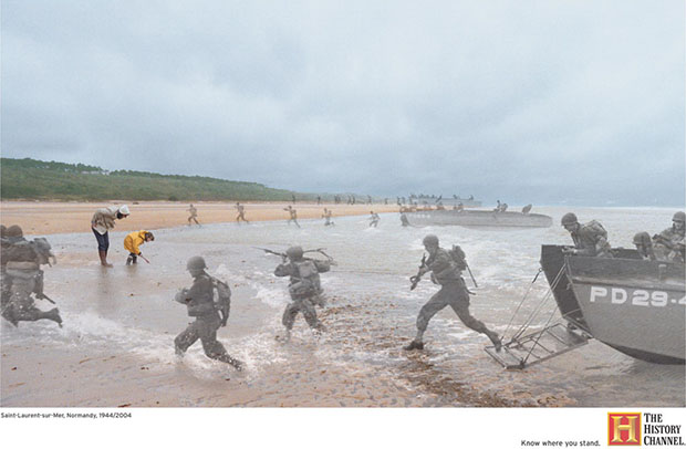 Saint-Laurent-sur-Mer, Normandy, France 1944/2004