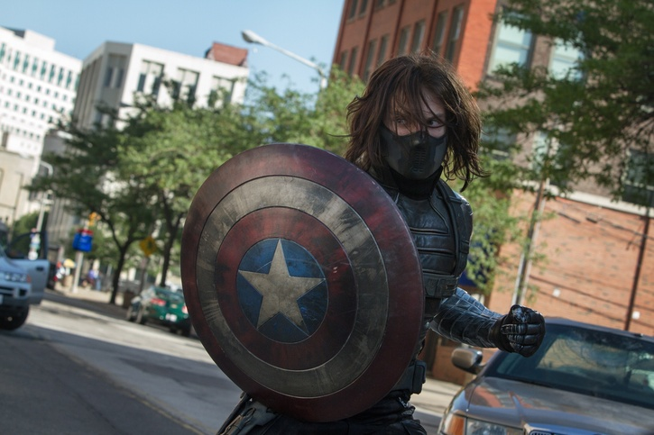 """Marvel's Captain America: The Winter Soldier"" Winter Soldier (Sebastian Stan) Ph: Zade Rosenthal © 2014 Marvel.  All Rights Reserved."