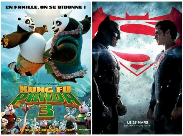kung fu panda 3 batman v superman alger