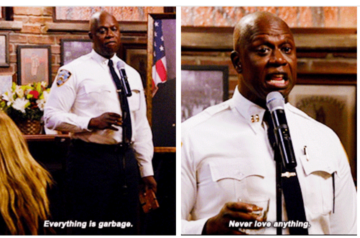 brooklyn nine nine never love anything